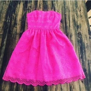 Lilly Pulitzer size 00 strapless dress  pink